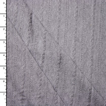 Heather Grey Cable Knit Jersey Knit