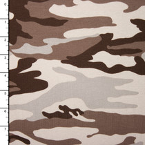 Desert Camouflage Stretch Midweight Jersey Knit