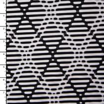 Black and White Argyle Plaid Midweight Nylon/Lycra