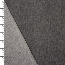 Light Grey/Dark Grey Heather Reversible Double Jersey Knit