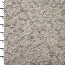 Ivory Lace on Light Grey Sweater Knit