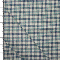 Blue an Grey Mini Plaid Heavyweight Flannel