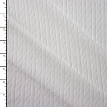 White Textured Cable Stripe Midweight Nylon/Spandex