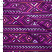 Pink and Purple Vibrant Geometric Nylon/Lycra