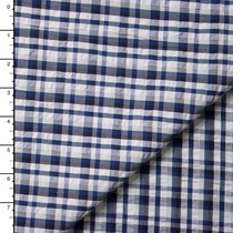 Indigo Plaid Cotton Seersucker by Robert Kaufman