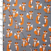 Fabulous Foxes Midweight Cotton/Lycra Jersey Knit by Robert Kaufman