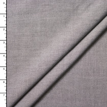 Grey Lightweight Rayon Chambray by Robert Kaufman