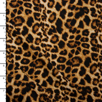 Leopard Print Double Brushed Poly Spandex Knit Print