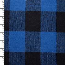 Royal Blue and Black Buffalo Plaid Flannel
