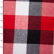Red, White, and Black Large Plaid Flannel