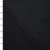 Soft Black Stretch French Terry