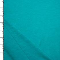 Light Turquoise Slubbed Jersey Knit