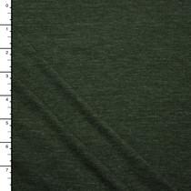 Olive Green Heather Lightweight Jersey Knit