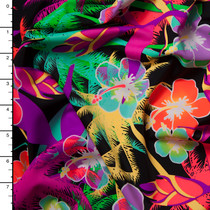 Ultra Neon Tropical Nylon/Lycra Print
