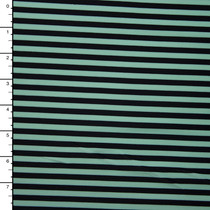 Mint and Black Narrow Stripe Nylon/Lycra