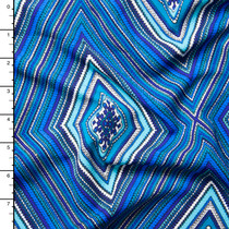 Blue Diamond Pattern Liverpool Knit