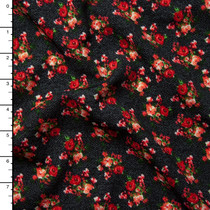 Red Diamond Pattern Liverpool Knit - Cali Fabrics