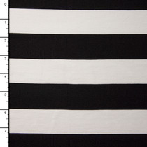 Black and White Wide Stripe Stretch Ponte De Roma
