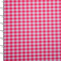 Hot Pink and White Gingham Plaid Nylon/Lycra