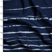Navy Blue Chalk Stripe Jersey Knit