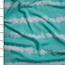 Aqua Grunge Stripe Stretch Jersey Knit