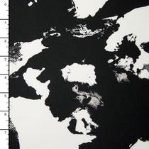 black and white ink blot grunge 4way stretch polylycra