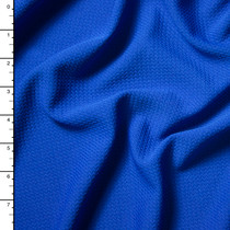 Royal Blue Braided Look Stretch Liverpool Knit