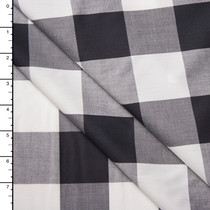 "Black and White 2"" Gingham Plaid Cotton Shirting from 'Theory'"