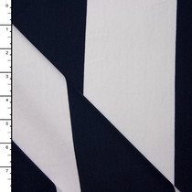 Navy and White Wide Stripe Ponte De Roma