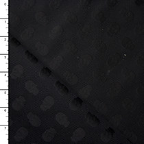 Black Skulls on Black Cotton Heavyweight Cotton/Silk Jaquard from 'Milly'