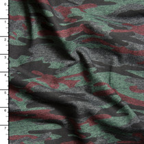 Charcoal Heather Camouflage Lightweight Jersey Print