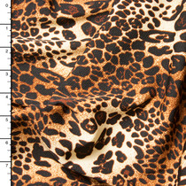 Tan and Copper Leopard Print Liverpool Knit