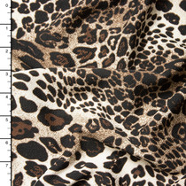 Tan and Brown Leopard Print Liverpool Knit