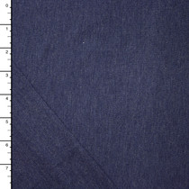 Navy Blue Heather Lightweight Stretch French Terry