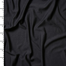 Black Modal Stretch Jersey Knit Fabric By The Yard