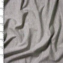 Light Grey Heather Modal Stretch Jersey Knit Fabric By The Yard