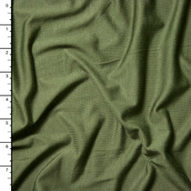 Olive Green Modal Stretch Jersey Knit Fabric By The Yard
