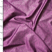 Sparkle Plum Heather Stretch Polyester Jersey Knit Fabric By The Yard