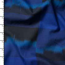 Black and Blue Designer Cotton Poplin from 'Marc Jacobs' Fabric By The Yard