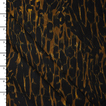 Leopard Print Brushed Stretch Twill from '7 for All Mankind' Fabric By The Yard