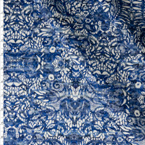 Weathered Blue on White Lace Print Stretch Sateen from '7 for All Makind' Fabric By The Yard