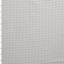 White Square Gridded Cotton Eyelet Fabric By The Yard