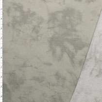 Light Grey Marbled Look French Terry Fabric By The Yard