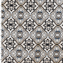 Blue and Blush Medallion Print Stretch Cotton Sateen from '7 for all Mankind' Fabric By The Yard