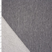 Medium Grey Soft Midnight French Terry Fabric By The Yard