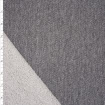 Medium Grey Soft Midnight French Terry Fabric By The Yard