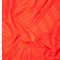 Red and Neon Orange Performance Double Knit Fabric By The Yard