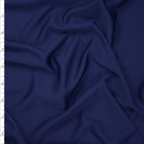 Navy and Midnight Performance Double Knit Fabric By The Yard