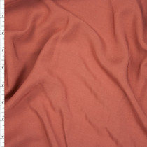 Terracotta Rayon Challis Fabric By The Yard