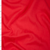 Bright Red Rayon Challis Fabric By The Yard